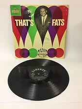 Fats Domino - That's Fats | Liberty 1964 | Cleaned Vinyl LP