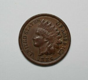 1886 Type 2 Indian Head Cent - 172140A