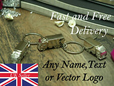 Truck Keyring Metal Lorry Car Cab Keychain Charm Cute personalised any name