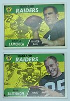 1968 Topps Lot of (2) Raiders  Fred Biletnikoff & Daryle Lamonica 🎻💎