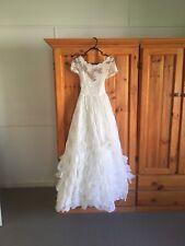 Vintage 1950 1960 Wedding Dress Gown Halloween Costume Zombie Bride Defects