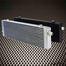 "Universal Cross Flow Bar & Plate Oil Cooler Large-Silver Core:18.5""x5.5""x1.58"""