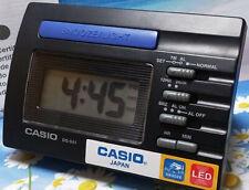 Casio DQ541-1R Black LED Light Digital Travel Alarm Clock with Snooze NEW