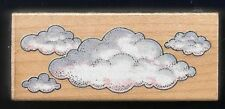 CLOUDS Cumulus Fluffy Cloudy Sky 452E ALL NIGHT MEDIA 1978 wood RUBBER STAMP