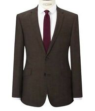 JOHN LEWS KIN LINCOLN TEXTURED WEAVE NOTCH SLIM TAILORED FIT JACKET 40 L BROWN