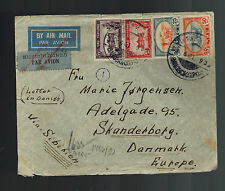 1941 Bangkok Thailand Censored Cover to Skanderborg Denmark