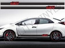HONDA Civic Mugen Power Lato Strisce Da Corsa Adesivi Decalcomanie Grafiche RS64
