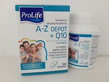 ProLife A-Z Depot + Q10, 21 Vitaminen, Mineralien und Spurenelemente, 100 Stk.