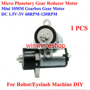 DC 1.5V 3V 120RPM 10MM Micro Planetary Gearbox Gear Reducer Motor for Robot DIY