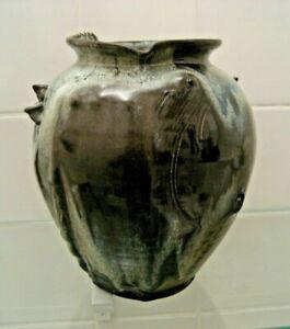 grand vase en grès - signature à identifier