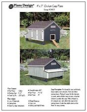 4'x 7' Chicken Coop Plans, How to build a chicken coop, design #90407MG