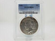 1928 Peace Silver Dollar, PCGS Graded MS64