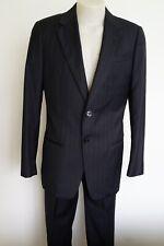 armani collezioni black pinstripe wool suit…size i48r…vgc...