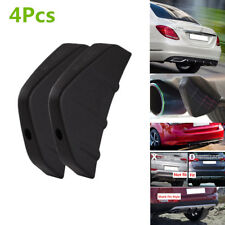 4Pcs Black PVC Car SUV Rear Bumper Diffuser Molding Point Garnish Anti-collision