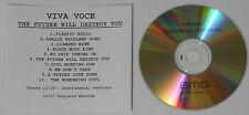 Viva Voce  Future Will Destroy + Instrumentals  2011 U.S. promo cd  rare