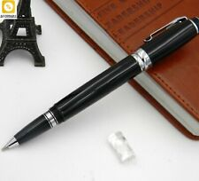 Pen Ballpoint Silver Classic Turn Metal Black Rollerball Pen Office Silver Gift