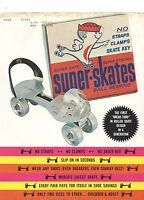 VINTAGE 1960s 'SUPER SKATES' DEALER BROCHURE/CATALOG! COLOR! BREAK-THRU DESIGN!