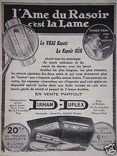 PUBLICITÉ 1920 L'AME DU RASOIR C'EST LA LAME DURHAM DUPLEX - ADVERTISING