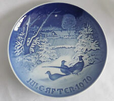 """Bing & Grondahl  1970 Christmas Plate """"Pheasants in the snow at Christmas"""" NB"""