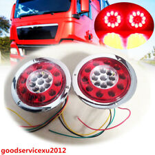 2 Pcs 4.3'' 19LED Car Off-Road Red Yellow Tail Lights Brake Stop Turn Lamps 12V