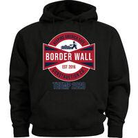 Build The Border Wall Construction Hoodie Trump 2020 MAGA Sweater Hoody