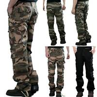 Camo Men Cargo Pants Military Camouflage Combat Trouser Tactical Outdoor Hiking