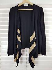 MELA PURDIE sz 12 - 14 (or M )  womens draped cardigan /  Top [#3825]