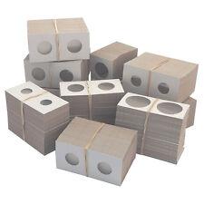 50 Cardboard 2x2 Coin Holder Mylar Flips Cent - Silver Dollar + 7 Storage Boxes
