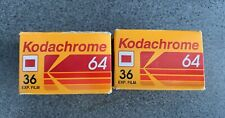 2 x 35mm roll film - Kodachrome 64 sealed, expired 1996, 36 exposures
