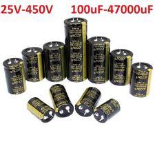 25V-450V Radial Electrolytic Capacitors Range of 100uF-47000uF Power Supply 105C