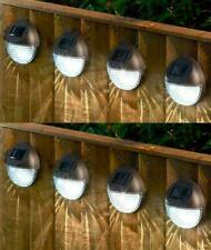 8x Solar Powered LED Garden Fence Lights Wall Patio Door Decking Outdoor summer