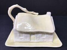 VTG Irish Belleek 1980-1992 7th Mark Lustrous Covered Cottage Cheese Plate Rare