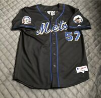 Majestic NY Mets Johan Santana 2008 Black Game Authentic Jersey Size 54