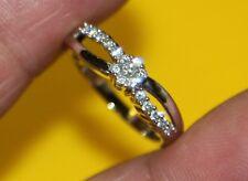 AA8 Gorgeous 10K white GOLD RING ENGAGEMENT Round 0.41 tcw Diamond size 6.25