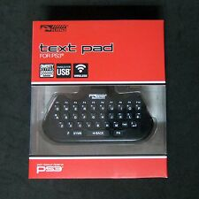 Brand New KMD Wireless Text Pad for PlayStation 3 PS3 QWERTY Key Pad Adapter