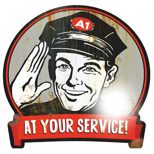 AT YOUR SERVICE Aufkleber Sticker Oldschool Retro Hotrod Rockabilly Oldtimer V8