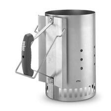 Weber Rapidfire Chimney Charcoal Starter Lighter Extra Large Capacity Bin Steel