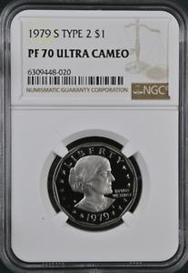 1979 S Type 2 Proof Susan B. Anthony Dollar NGC PF 70 Ultra Cameo