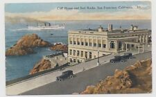 Old postcard CLIFF HOUSE AND SEAL ROCKS, SAN FRANCISCO, CA, mailed in 1927