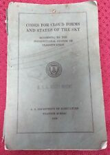 Rare - Codes for Cloud Forms & States of the Sky 1938 - USS Rocky Mount - WWII