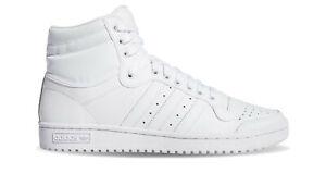 Scarpe Sneakers Uomo ADIDAS ORIGINALS TOP TEN HI Bianche in Pelle Mis EU 48