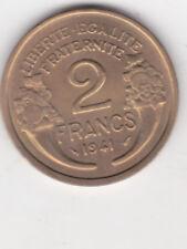 2 FRANCS MORLON BRONZE ALU 1941    SUP