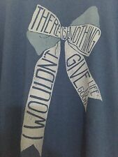"""LIFE IS GOOD WOMEN """"There is Nothing I Wouldn´t """" XL Navy Cotton T-Shirt"""