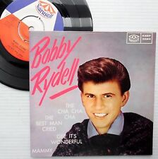 BOBBY RYDELL teen rock pop 4 song SWEDEN PS 45 ep KARUSELL  KSEP 3283 F2436