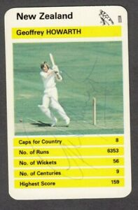 Geoffrey Howarth of New Zealand autograph on vintage Top Trumps card Cricket