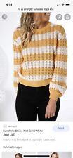 BNWT Wrangler Sunshine Stripe Knit Jumper Top Sz 8