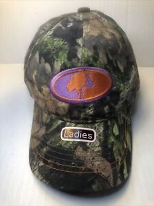 MOSSY OAK Signatures Orange & Lilac Logo Ladies Camo Hunting Baseball Cap Hat