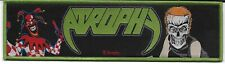 ATROPHY-SOCIALIZED HATE/VIOLENT BY NATURE-STRIPE WOVEN PATCH-GREEN BORDERS