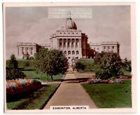 Edmunton Alberta Province  Saskatchewan River Canada 1930s Ad Trade Card
