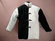 Medieval Beautiful Thick padded half Black and Half White Gambeson custome HN4